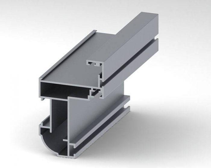 پروفیل یک جداره ثابت نمای شیشه ای Fixed Single Walled Profiles